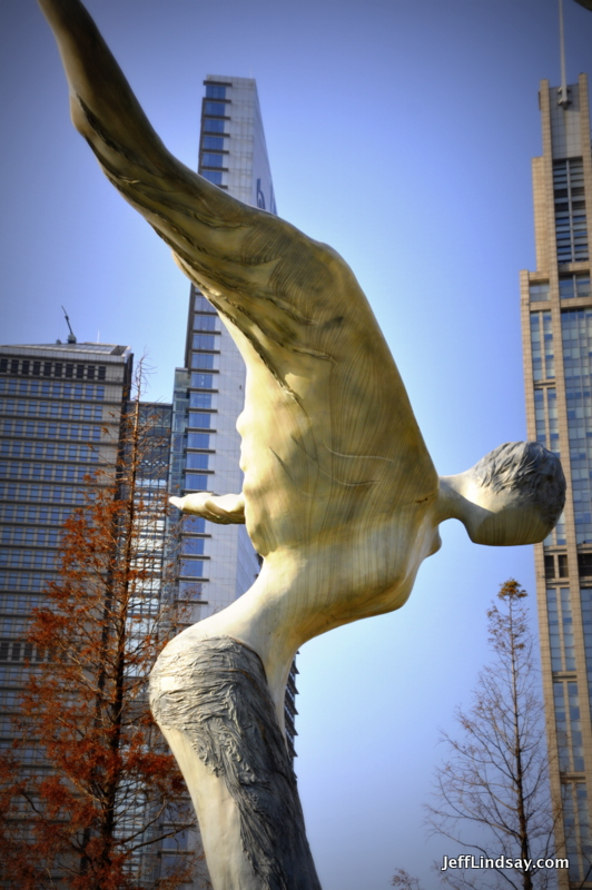 A Protective Angel Watches Over Shanghai