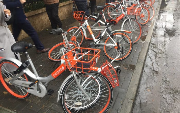 Mobikes in Shanghai