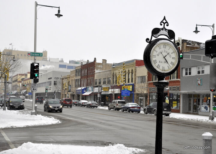 View of College Appleton in downtown Appleton, winter 2011.