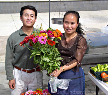 Hmong couple at the Appleton Farmer's Market, Sept. 2004