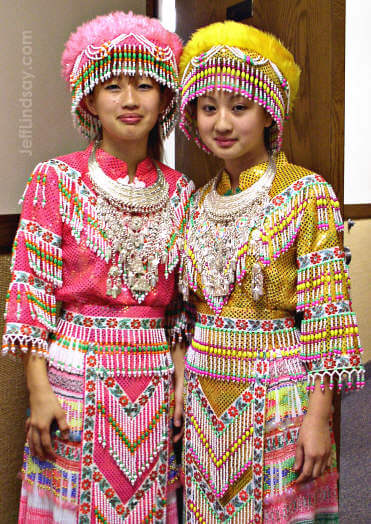 Two Hmong friends of ours just before a dance routine performed at an LDS Church in Appleton.