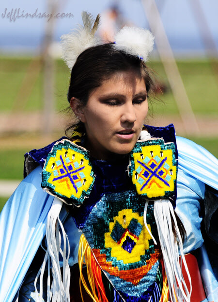 A beautiful dancer from the Oneida Indian Tribe of Wisconsin during a performance at Bay Beach Park, fall 2009.