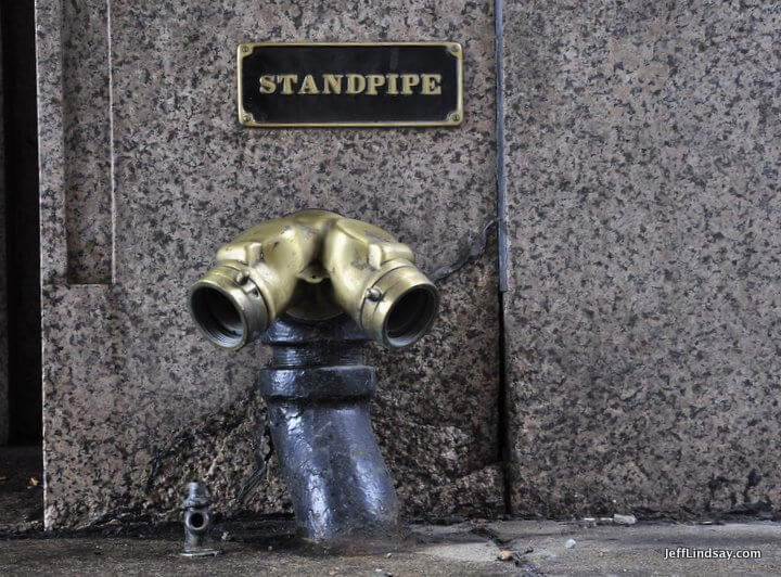 Standpipe in downtown Chicago, Illinois. 2011