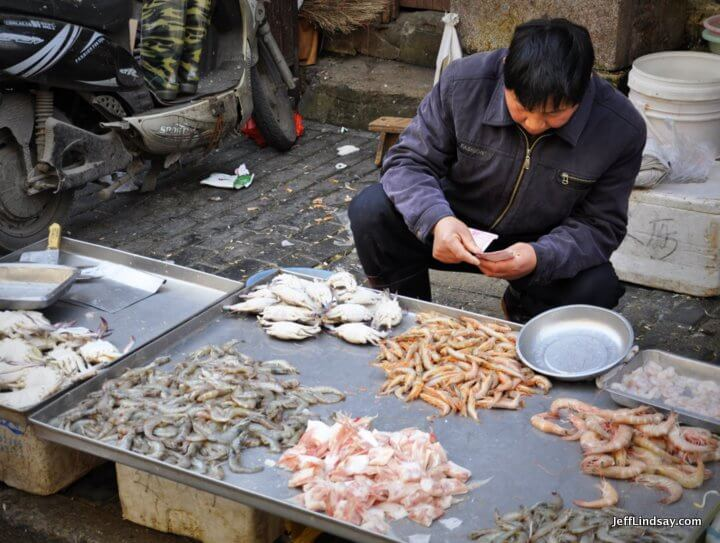 Seafood at a street market in Shanghai, 2012