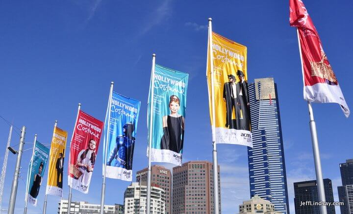 Melbourne, Australia, May 2013: flags