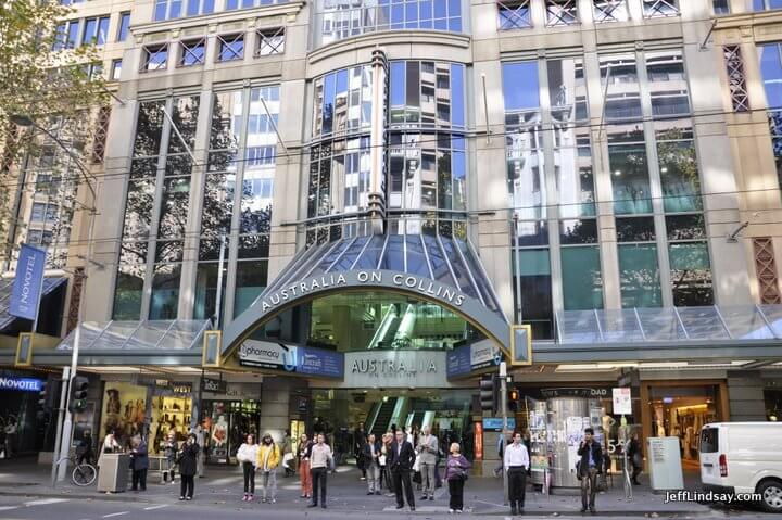Melbourne, Australia, May 2013: Australia on Collins, a Collins Street mall