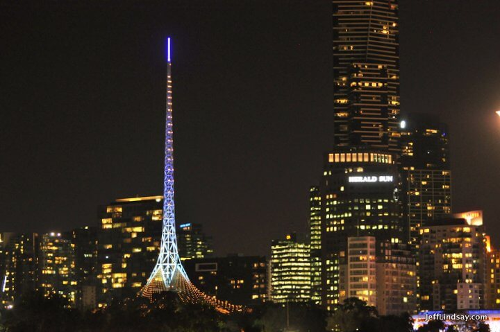 Melbourne, Australia, May 2013: radio tower