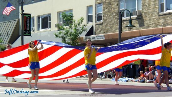 Flag Day Parade in Appleton, Wisconsin