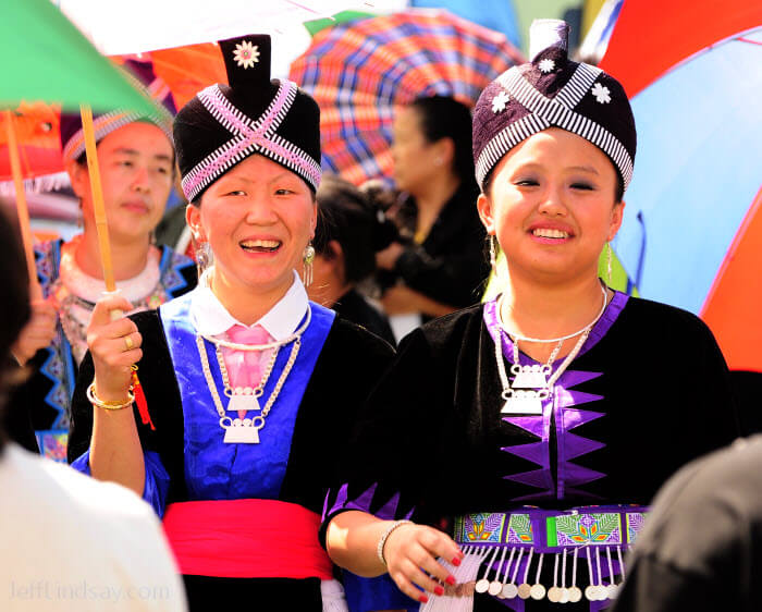 Hmong women in full attire at a soccer tournement in Oshkosh, Wisconsin, 2009.