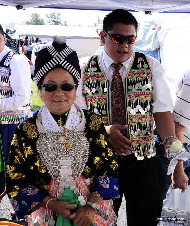 Hmong woman and friend at a soccer tournament