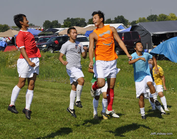 Hmong soccer players - they can fly.