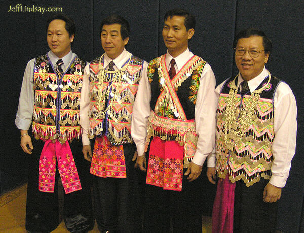 Some Hmong men at a New Year's celebration at Appleton East High School.