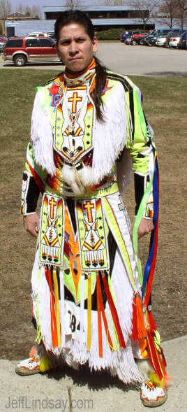 A talented and proud Native American dancer at the Oneida Spring Pow Wow.