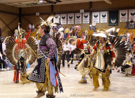 More of the amazing dancers at the Pow Wow.