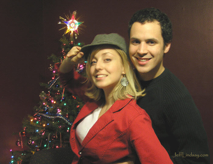 Dave and Julie at Christmas time, Dec. 2007.