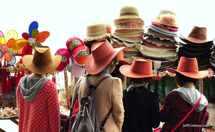 Xiamen, Fujian China, April 2013: hats