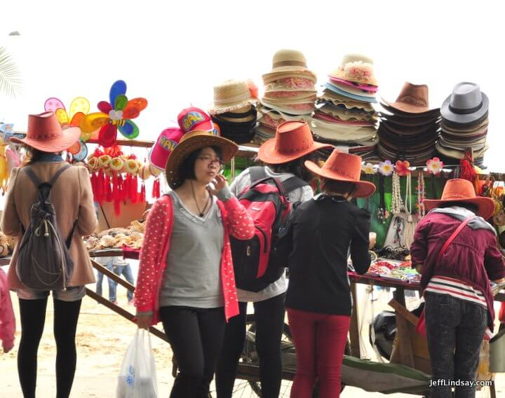 Xiamen, Fujian China, April 2013: more hats